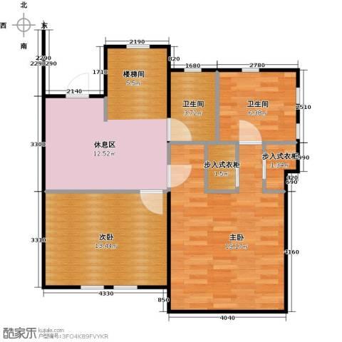 天恒别墅山2室0厅2卫0厨73.00㎡户型图