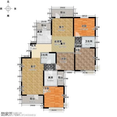 天津湾海景文苑4室0厅2卫2厨204.00㎡户型图