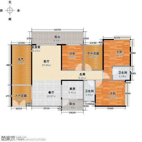 纯水岸3室0厅2卫1厨113.98㎡户型图