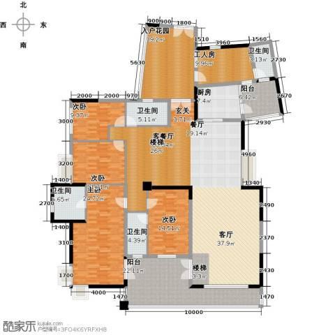 星河传说天玺4室1厅4卫1厨257.00㎡户型图