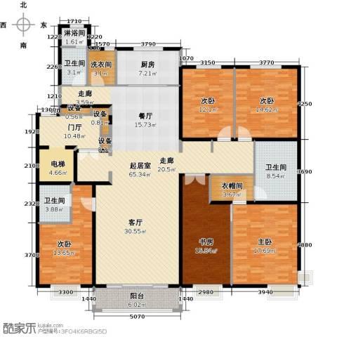 中信府・世家5室0厅3卫1厨230.00㎡户型图