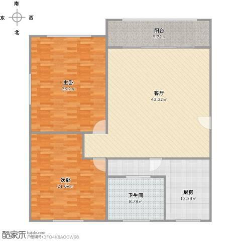 鹏欣家园2室1厅1卫1厨163.00㎡户型图