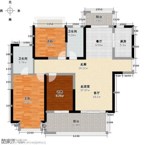 中祥玖珑湾3室0厅2卫1厨151.00㎡户型图