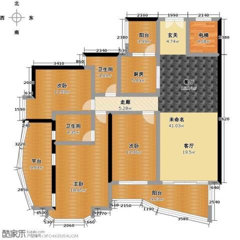 中海金沙熙岸3室0厅2卫1厨149.00㎡户型图