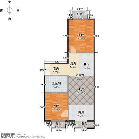 国际E庄2室0厅1卫0厨90.00㎡户型图