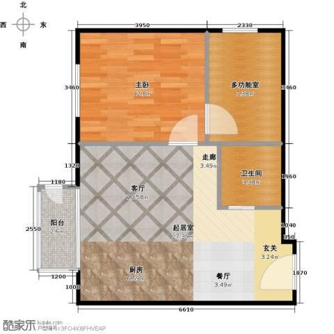 国际E庄1室0厅1卫0厨56.00㎡户型图