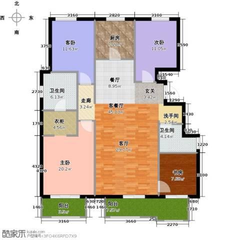 首开香溪郡4室1厅2卫1厨138.00㎡户型图