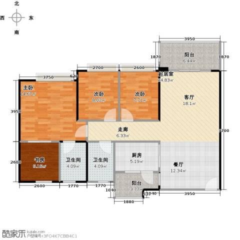 纯水岸4室0厅2卫1厨103.00㎡户型图