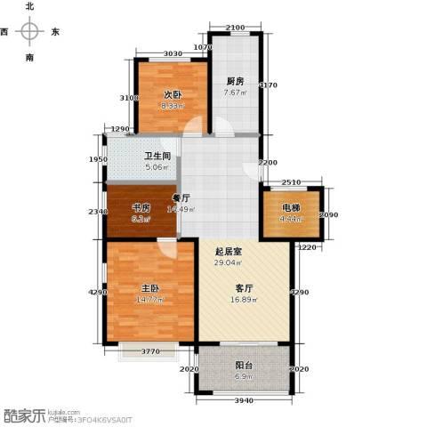 金狮薇尼诗花园3室0厅1卫1厨115.00㎡户型图