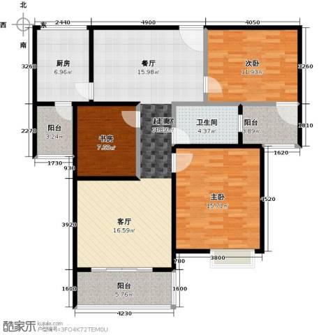 鼓楼广场3室0厅1卫1厨131.00㎡户型图