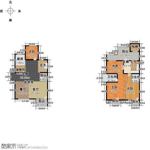 亿城西山华府4室0厅2卫1厨263.07㎡户型图
