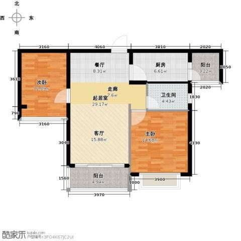 合景峰汇国际2室0厅1卫1厨85.00㎡户型图