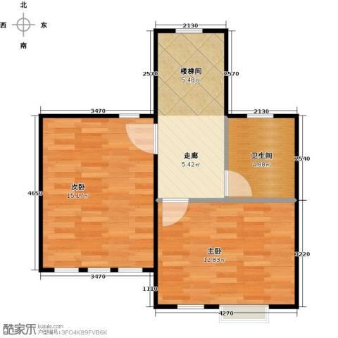 天恒别墅山2室0厅1卫0厨42.92㎡户型图