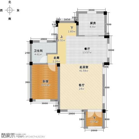 尚荟海岸1卫1厨92.00㎡户型图