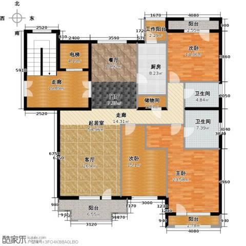 亿城西山华府3室0厅2卫1厨187.34㎡户型图