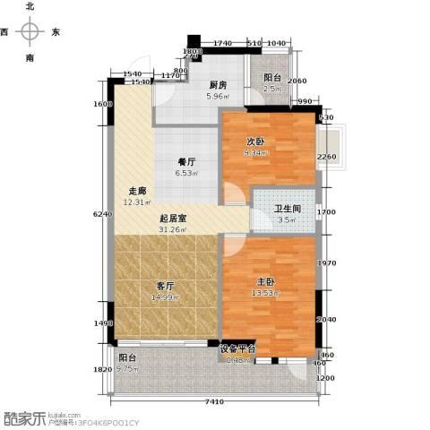 嘉粤百合雅居2室0厅1卫1厨90.00㎡户型图