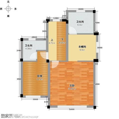 尚荟海岸1室0厅2卫0厨88.00㎡户型图