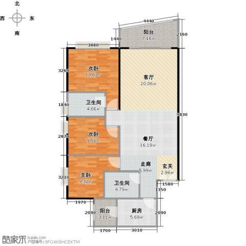 东山紫园商业3室0厅2卫1厨118.00㎡户型图