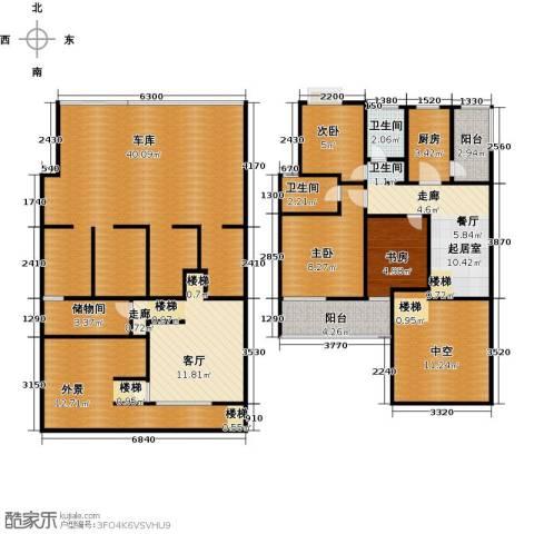 新世纪绿树湾3室1厅2卫1厨169.00㎡户型图