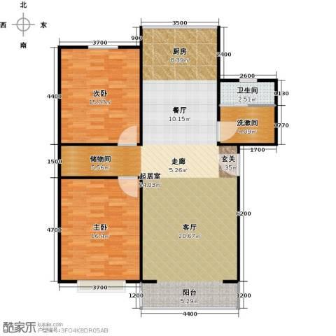 青城庄园2室0厅1卫0厨98.00㎡户型图