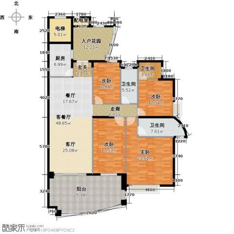 海琴湾4室1厅3卫1厨180.12㎡户型图