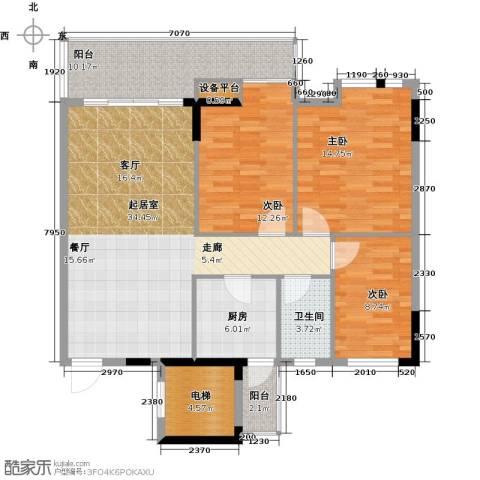 嘉粤百合雅居3室0厅1卫1厨120.00㎡户型图