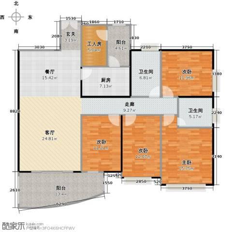 东山紫园商业4室0厅2卫1厨170.00㎡户型图