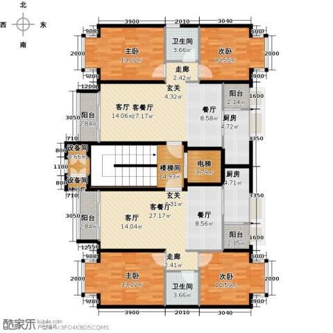润泽悦溪4室2厅2卫2厨148.69㎡户型图
