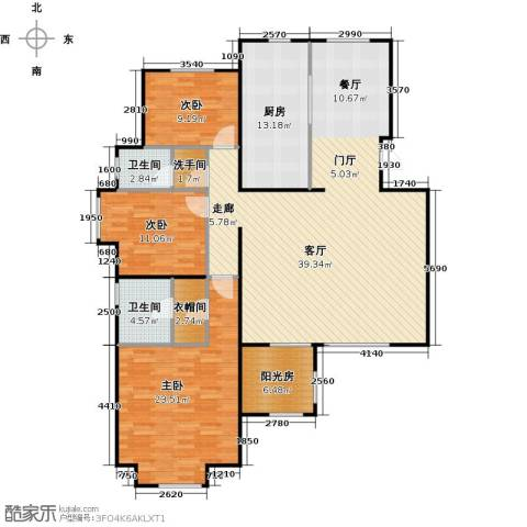 顶秀美泉小镇3室0厅2卫1厨178.00㎡户型图