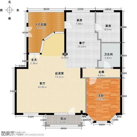 润泽悦溪1室0厅1卫1厨166.00㎡户型图