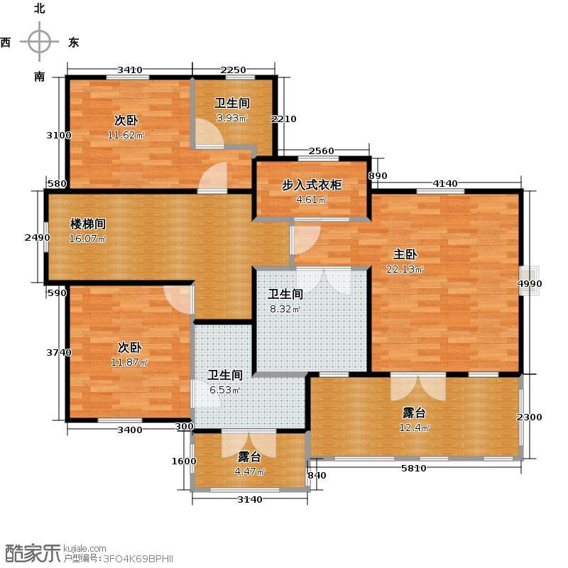 绿城曼陀花园110.00㎡S12层地下室户型3室3卫