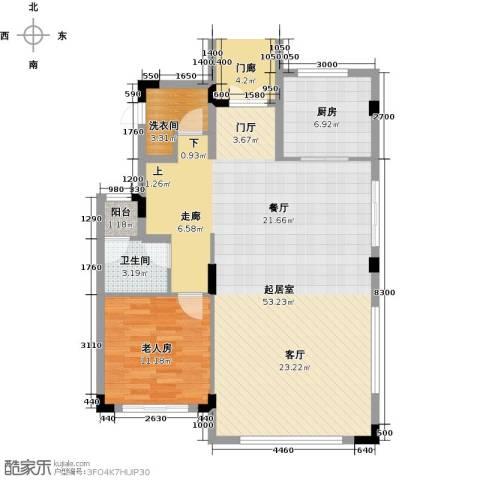 尚荟海岸1室0厅1卫1厨109.00㎡户型图