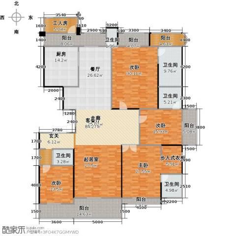 嘉福尚江尊品4室1厅5卫1厨339.00㎡户型图