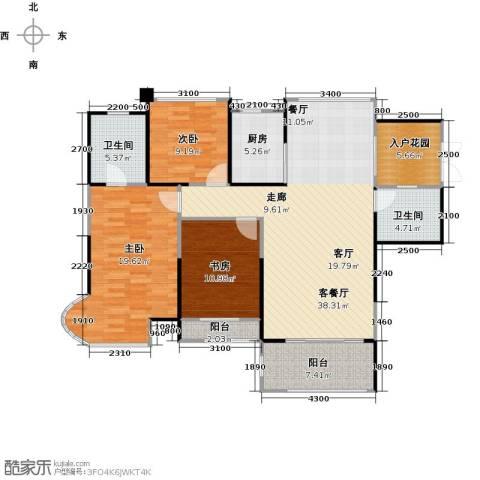 嘉福尚江尊品3室1厅2卫1厨146.00㎡户型图