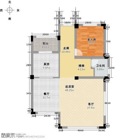 尚荟海岸1室0厅1卫1厨103.00㎡户型图