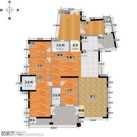 星河传说天玺4室1厅4卫1厨255.00㎡户型图