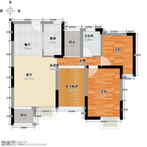 丰泰东海城堡1室0厅1卫1厨78.00㎡户型图