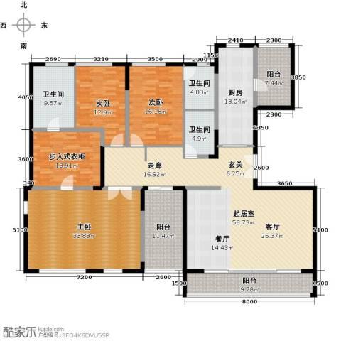 万科金色梦想3室0厅3卫1厨275.00㎡户型图