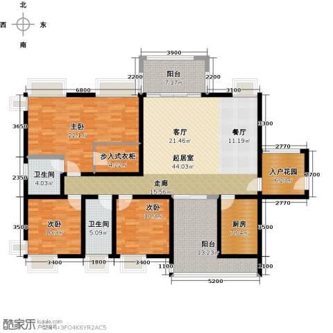 鼎峰尚境3室0厅2卫1厨160.00㎡户型图