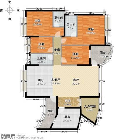 海琴湾4室1厅3卫1厨158.49㎡户型图