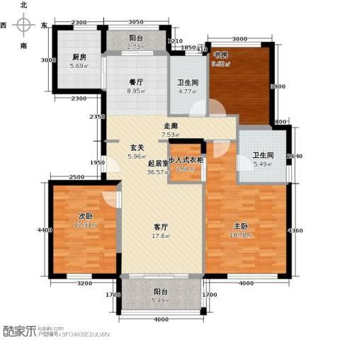 万科金色梦想3室0厅2卫1厨148.00㎡户型图