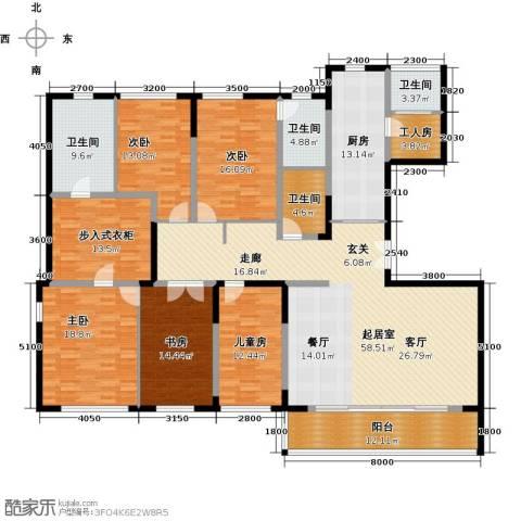 万科金色梦想5室0厅4卫1厨198.38㎡户型图