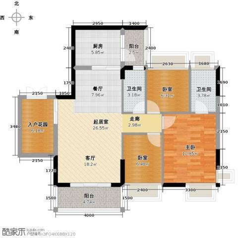 宏远康城国际1室0厅2卫1厨98.00㎡户型图