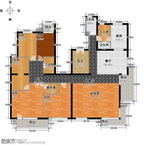 北京华侨城4室1厅4卫1厨286.00㎡户型图