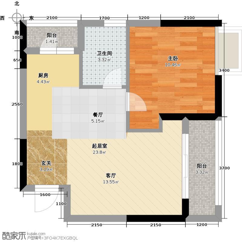 中环品悦55.50㎡天伦轩和名仕轩04、07户型1室1卫