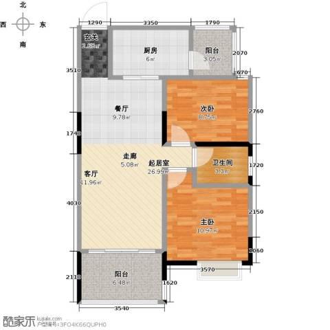 盈拓郦苑2室0厅1卫1厨92.00㎡户型图