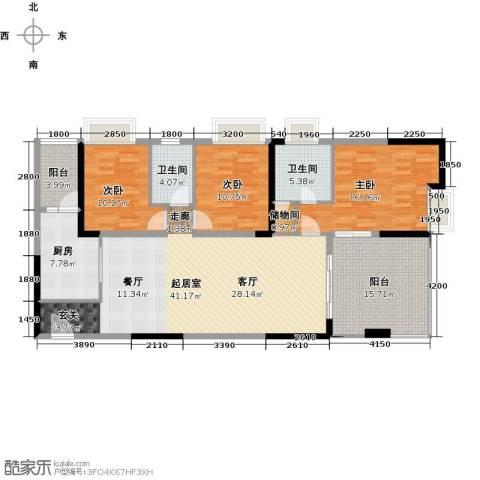 力迅T3室0厅2卫1厨127.00㎡户型图
