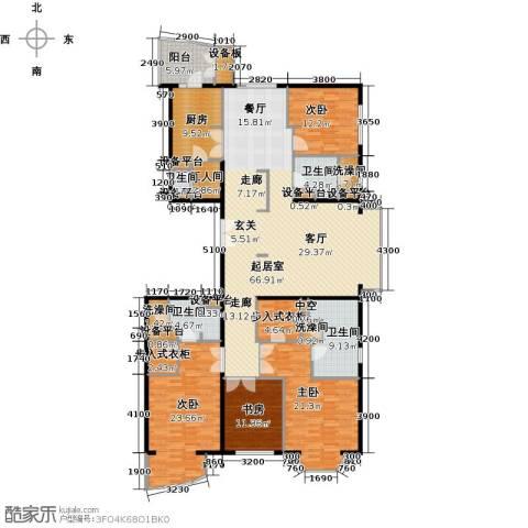 公园18724室0厅4卫1厨260.00㎡户型图
