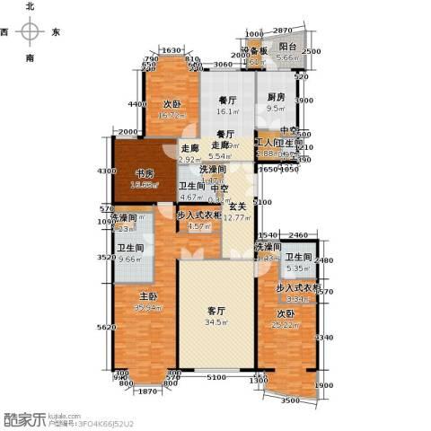 公园18724室2厅4卫1厨219.01㎡户型图