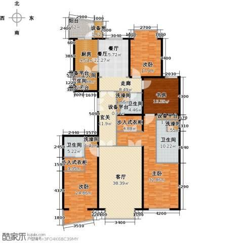 公园18724室2厅4卫1厨219.55㎡户型图